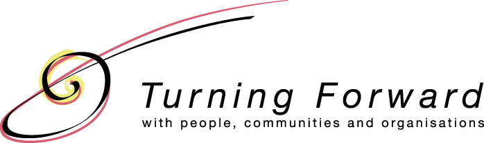 logo: Turning Forward with people, communities and organizations